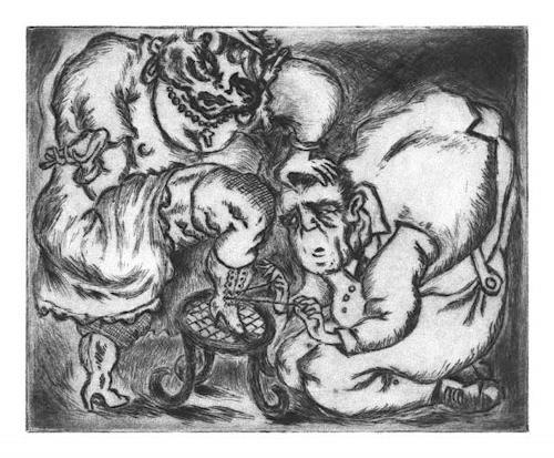 Ken Dowsing, ...DIE HERRLICHE FREUDE DES SÜßEN HAKENSCHNÜRENS.., Abstraktes, Fantasie, Expressionismus