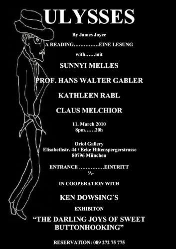 Ken Dowsing, ULYSSES READING - LESUNG, Diverses, Freizeit, Abstrakte Kunst