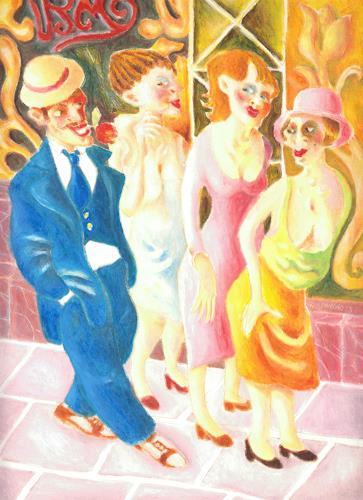 Ken Dowsing, YORKSHIRE GIRLS, Abstraktes, Dekoratives, Expressionismus