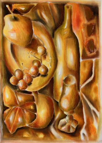 Ken Dowsing, Goldener Herbst, Essen, Dekoratives, Expressionismus