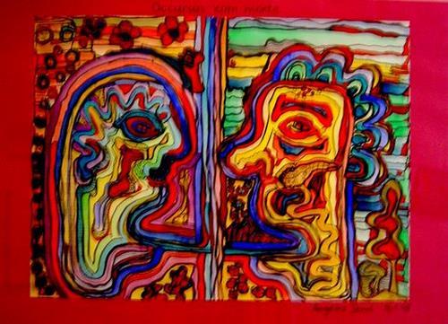 Angelika Demel, Pancreas.-Carcinom, Abstraktes, Abstraktes, Expressionismus