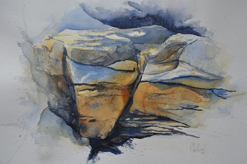 Daniel Gerhard, Felspartie am Faulhorn, Landschaft: Berge, Natur: Gestein