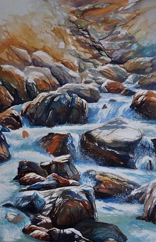 Daniel Gerhard, Bergwasser 3, Natur: Wasser, Natur: Gestein