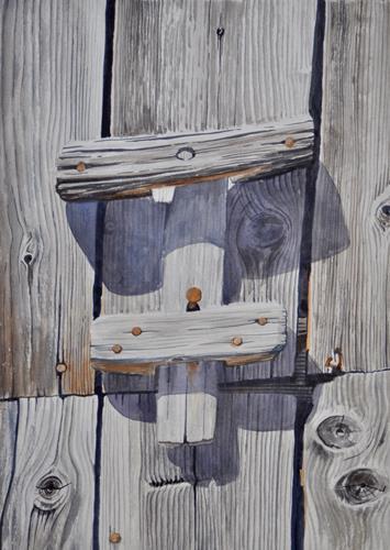 Daniel Gerhard, ...gefallen, Natur: Wald, Pflanzen: Bäume, Expressionismus