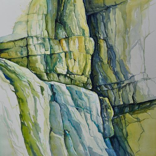 Daniel Gerhard, Kalkfelsen in der Taubenlochschlucht, Natur: Gestein, Landschaft: Berge, Expressionismus