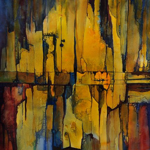 Daniel Gerhard, es blättert ab..., Abstraktes, Dekoratives, Expressionismus