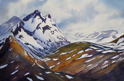Daniel Gerhard, Unterwegs zum Bachalpsee, Landschaft: Berge, Natur: Gestein