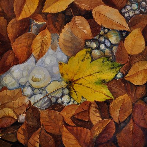 Daniel Gerhard, Herbstlicher Waldweg, Zeiten: Herbst, Natur: Wald