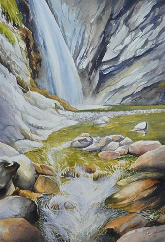 Daniel Gerhard, Winter an der Waldemme, Zeiten: Winter, Natur: Wasser, Abstrakte Kunst