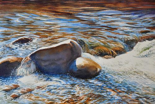 Daniel Gerhard, Im Fluss, Natur: Wasser, Natur: Gestein