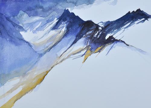 Daniel Gerhard, Ausblick, Natur: Gestein, Landschaft: Berge, Expressionismus