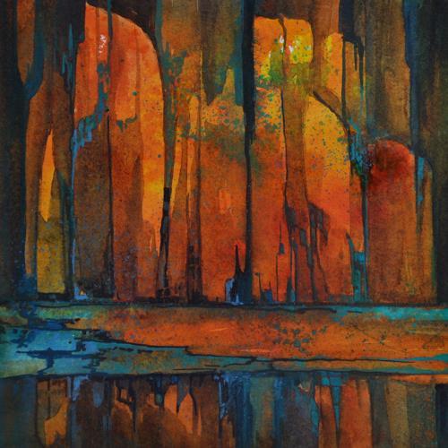 Daniel Gerhard, glühend, Natur: Feuer, Dekoratives, Abstrakter Expressionismus