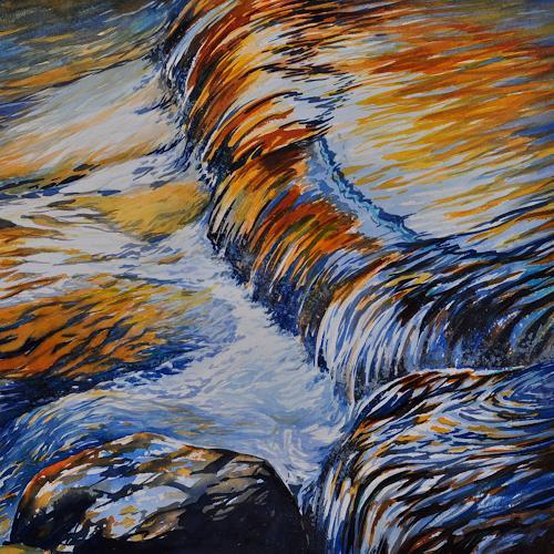 Daniel Gerhard, steter Fluss, Natur: Wasser, Zeiten: Herbst, Expressionismus