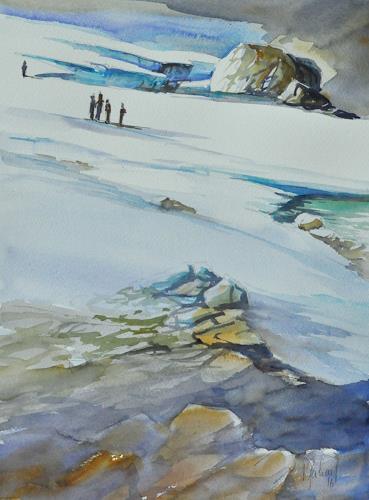 Daniel Gerhard, Alpinisten, Natur: Gestein, Landschaft: Berge, Expressionismus