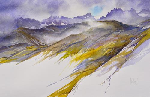 Daniel Gerhard, Das Wetter schlägt um..., Landschaft: Berge, Natur: Gestein