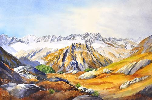 Daniel Gerhard, Göscheneralp, Landschaft: Herbst, Landschaft: Berge, Abstrakte Kunst