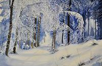 Daniel-Gerhard-Landschaft-Winter-Pflanzen-Baeume-Moderne-Abstrakte-Kunst