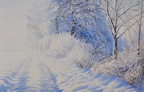 Daniel Gerhard, Die rote Jacke, Natur: Wasser, Tiere: Wasser, Abstrakte Kunst, Expressionismus