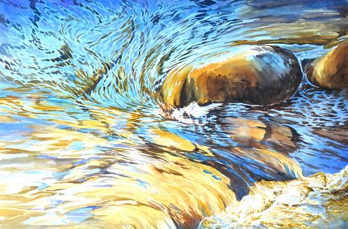 Daniel Gerhard, Wasser-Farben, Natur: Wasser, Natur: Gestein, Abstrakte Kunst, Expressionismus