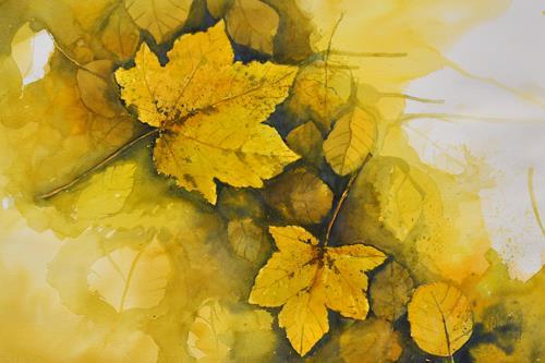 Daniel Gerhard, Herbst!, Landschaft: Herbst, Natur: Wald, Abstrakte Kunst