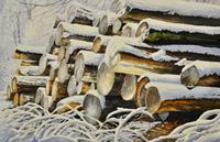 Daniel-Gerhard-Landschaft-Winter-Pflanzen-Baeume-Neuzeit-Realismus
