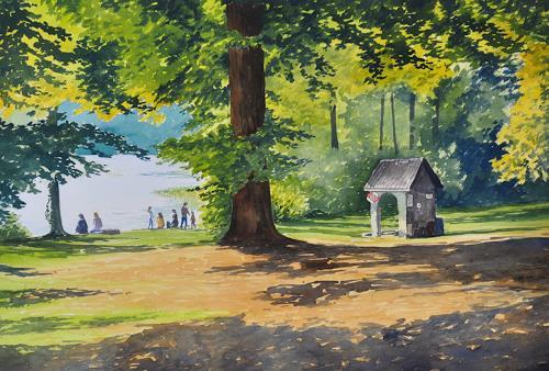 Daniel Gerhard, Brestenberg, Landschaft: See/Meer, Landschaft: Herbst, Abstrakte Kunst