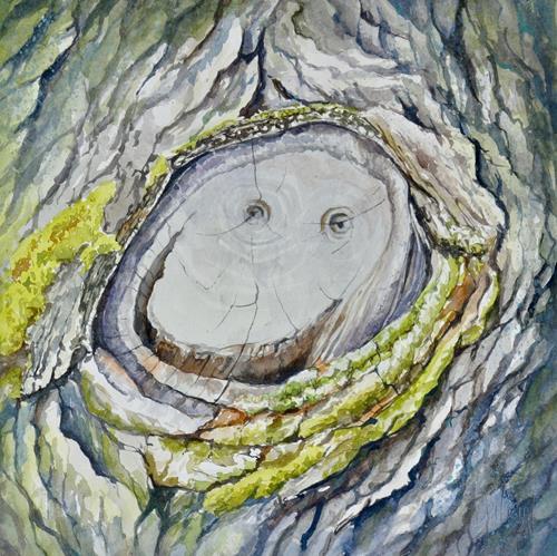 Daniel Gerhard, Smile, Pflanzen: Bäume, Natur: Diverse, Abstrakte Kunst, Expressionismus