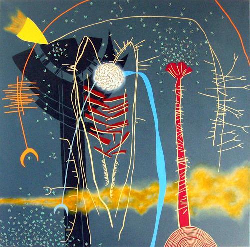 Pablo Lira, Komposition für einen Ursprung, Abstraktes, Diverses, Neo-Geo, Abstrakter Expressionismus