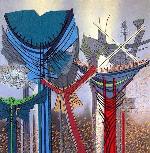 Pablo Lira, Erinnerungen an unsere Zukunft, Abstraktes, Bewegung, Neo-Geo, Abstrakter Expressionismus