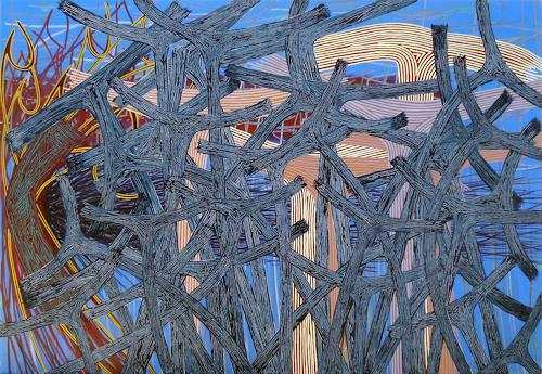 Pablo Lira, O/T, Abstraktes, Neo-Geo, Abstrakter Expressionismus