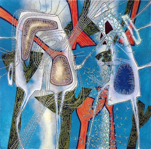 Pablo Lira, Ohne Titel, Abstraktes, Landschaft: Ebene, Expressionismus