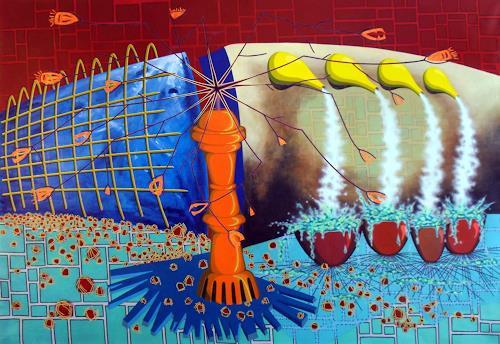 Pablo Lira, Die Überreste für das Volk, Abstraktes, Gesellschaft, Abstrakter Expressionismus