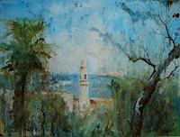 Werner-Fink-Landschaft-See-Meer-Natur-Diverse-Moderne-Impressionismus-Postimpressionismus