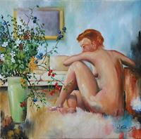 Werner-Fink-Akt-Erotik-Akt-Frau-Gefuehle-Liebe-Moderne-Naturalismus