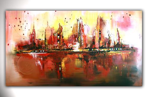 citylife abstrakte malerei abstrakte kunst acrylbild auf leinwand von burgstallers art. Black Bedroom Furniture Sets. Home Design Ideas