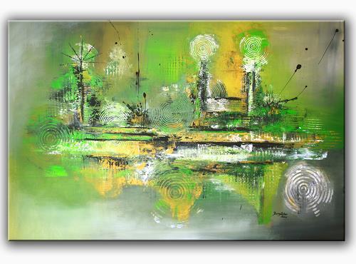 Inspire 4 - Abstraktes Acrylbild - Künstler Bild auf Leinwand\