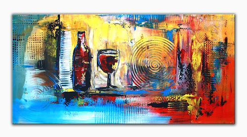 Stillleben Modern wein abstraktes acrylbild künstler bild abstrakt