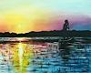 Burgstallers-Art, Abendrot Sunset Moderne Malerei Sonnenuntergang Afrikd Gemälde Acyl 80x100