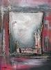 Burgstallers-Art, Abschied abstrakte Malerei Spachtelbild Dekobild Schlafzimmerbild Struktur 80x100