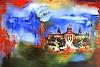 Burgstallers-Art, Barcelona Stadtbild Stadtmalerei Städte Gemälde Wohnzimmerbilder kaufen 80x120