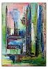 Burgstallers-Art, Confused bunt pastell abstrakt acrylbilder kunst bilder grün rot blau 60x90, Abstraktes, Gegenwartskunst