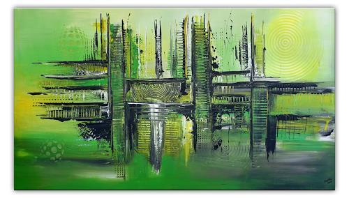Burgstallers-Art, Forrest, abstraktes, wandbild, gruen, leinwandbilder, online kaufen, 80x140,, Abstraktes, Abstrakte Kunst