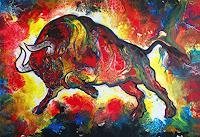 Burgstallers-Art-Abstraktes-Tiere-Land-Gegenwartskunst-Gegenwartskunst