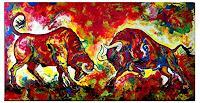 Burgstallers-Art-Abstraktes-Tiere-Moderne-Abstrakte-Kunst