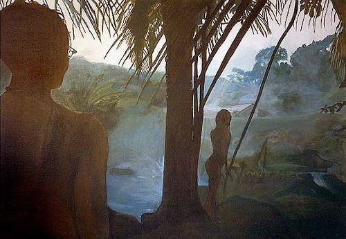 Frank Dimitri Etienne, Der Schatz, Landschaft: Tropisch, Fotorealismus