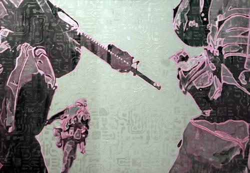 Frank Dimitri Etienne, Pink War, Krieg, Pop-Art