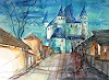 Conny, Aquarell Schloss Thun