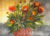Conny-Pflanzen-Blumen-Dekoratives-Gegenwartskunst--Gegenwartskunst-