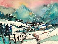 Conny-Landschaft-Winter-Gefuehle-Geborgenheit-Gegenwartskunst-Gegenwartskunst