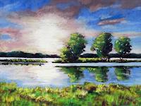 Conny-Landschaft-See-Meer-Romantik-Sonnenuntergang-Gegenwartskunst-Gegenwartskunst